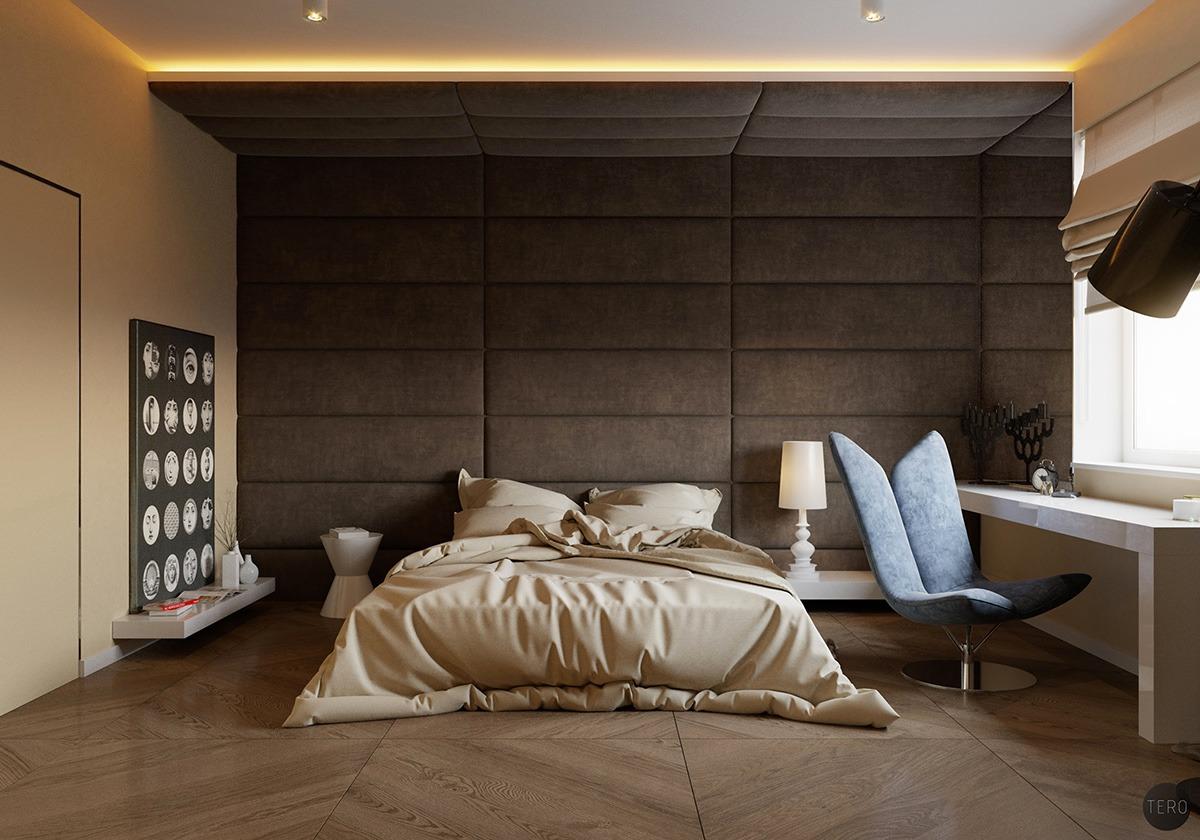 Murs capitonnés chambre