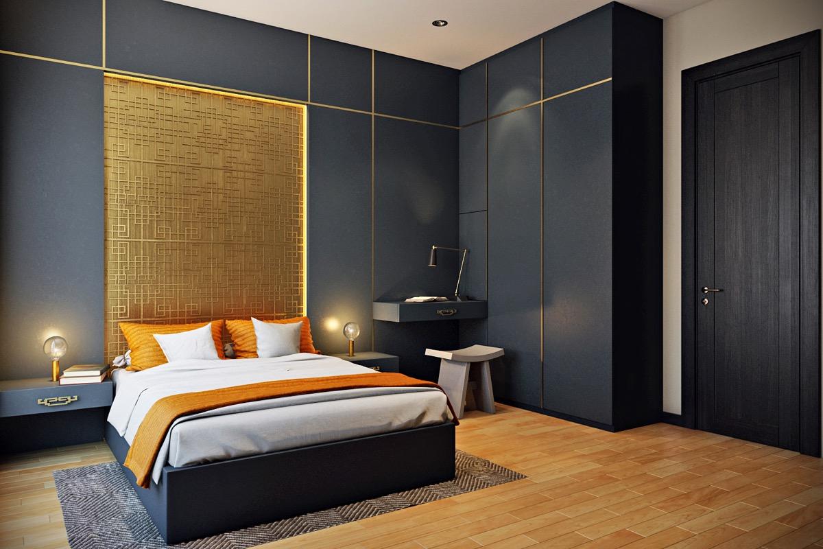 Murs placard noirs dans chambre