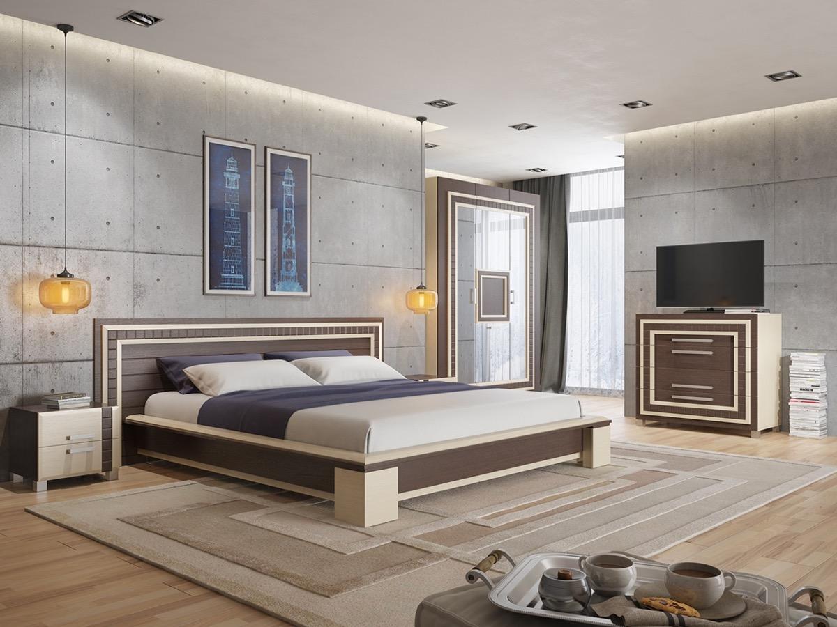 Murs avec des plaques de béton dans chambre