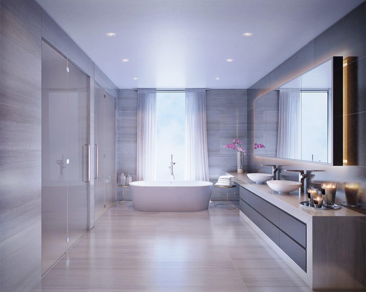 Salle de bain apaisante