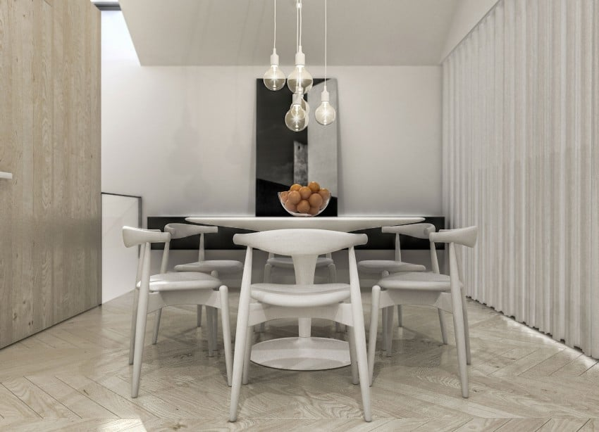 table de cuisine ronde blanche. Black Bedroom Furniture Sets. Home Design Ideas