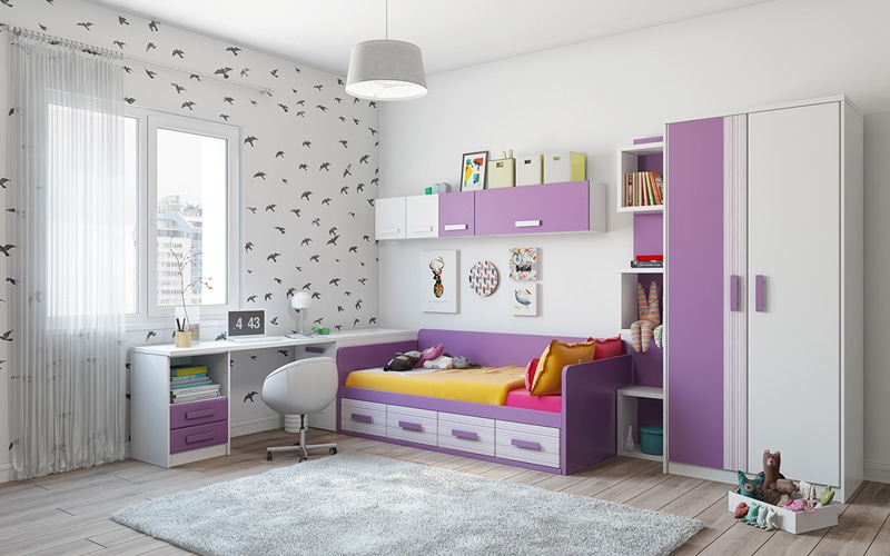Awesome Chambre Mauve Et Blanche Ideas - House Design ...