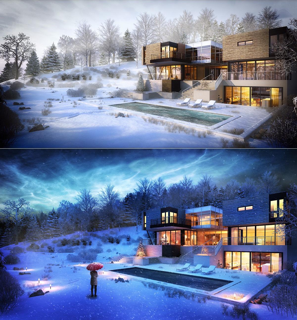 Modern Home Design October 2012: 26 Maisons Extraordinaires Qui Se Fondent Dans Le Paysage