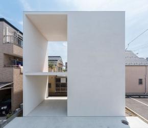 Maison cube blanche