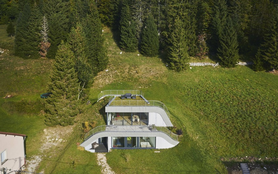 Maison enterr e avec rooftop - La maison wicklow hills par odos architects ...