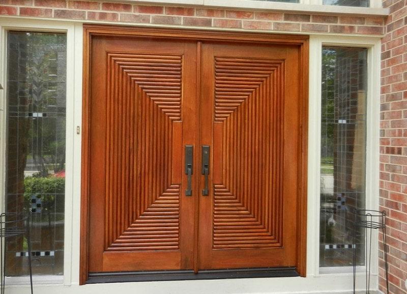 40 exemples de portes d 39 entr es color es. Black Bedroom Furniture Sets. Home Design Ideas
