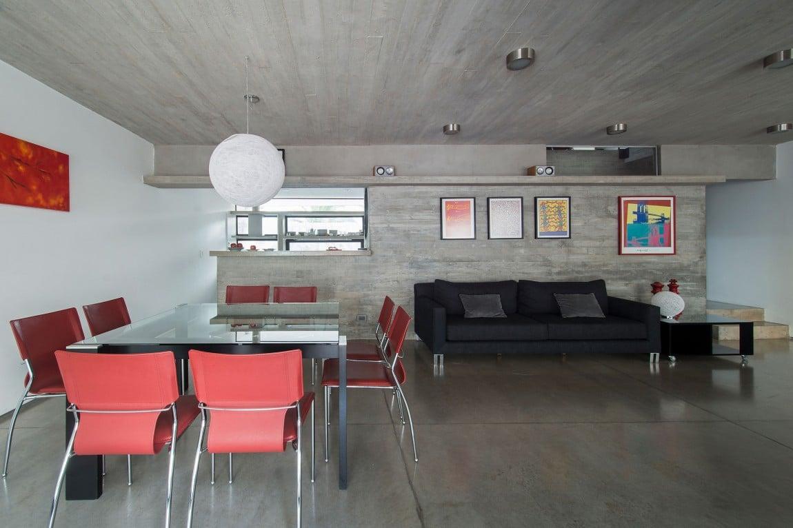 Salon salle manger b ton for Salle a manger design 2015