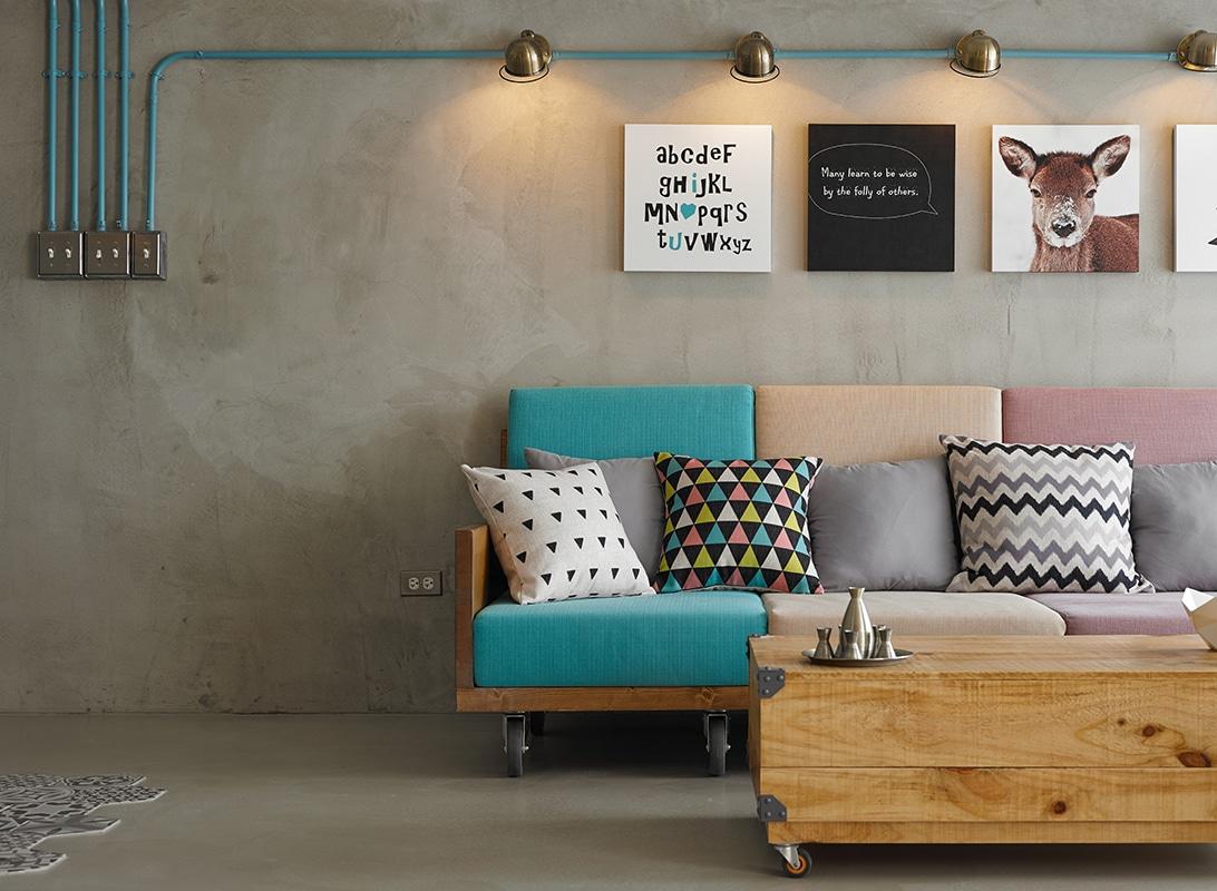 Petit appartement avec une d coration d 39 int rieur clectique - Interieur eclectique grove design ...