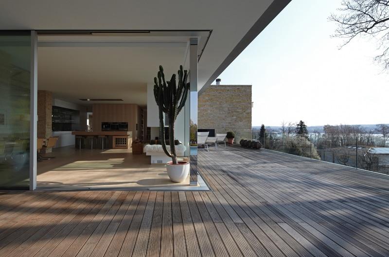 Terrasse bois en angle