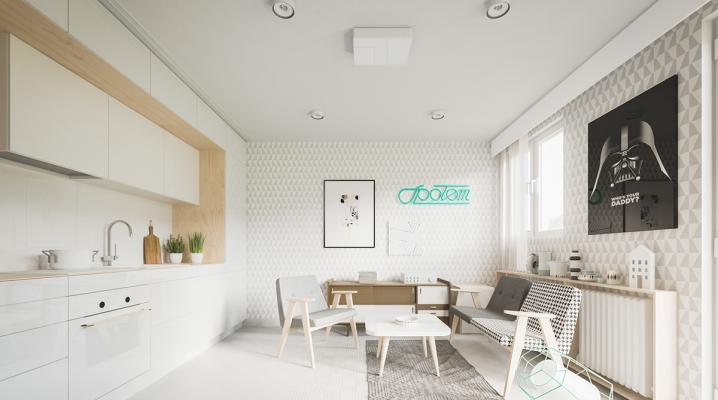 am nager un appartement de 60m2 avec un style scandinave. Black Bedroom Furniture Sets. Home Design Ideas
