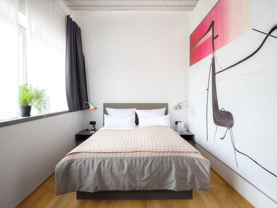 Chambre avec fresque