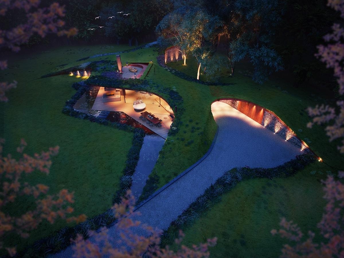 maison souterraine