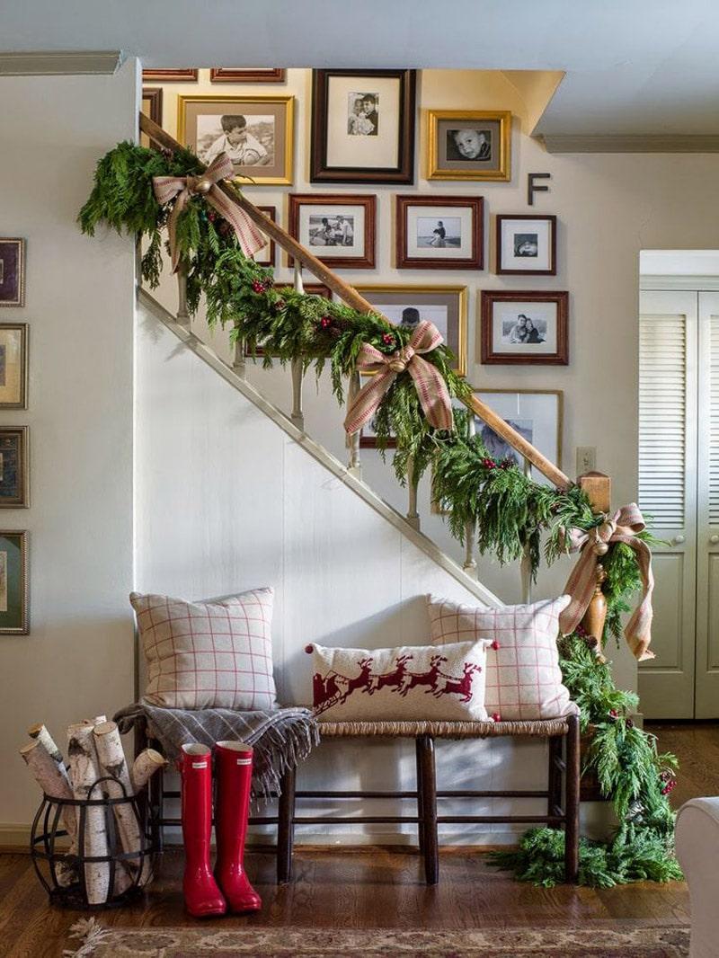 Décoration escalier Noel
