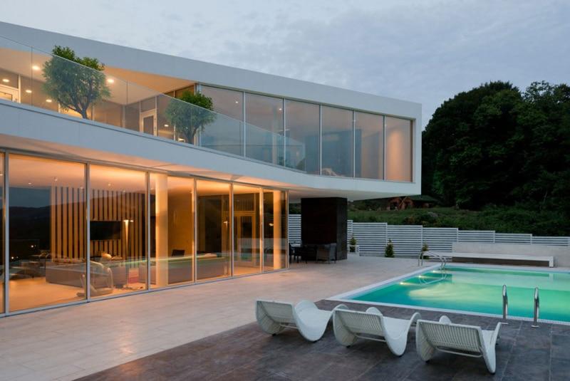 Maison Blanche Ultra Design Et Lumineuse