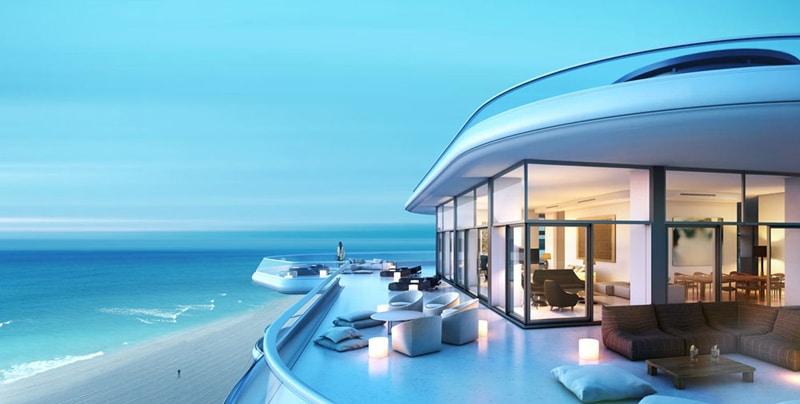 Penthouse vue sur océan