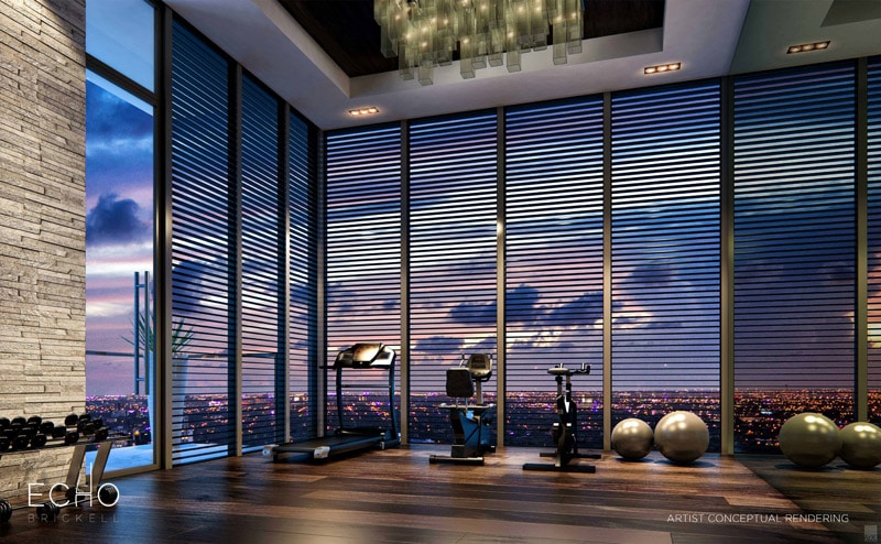 salle de sport penthouse. Black Bedroom Furniture Sets. Home Design Ideas