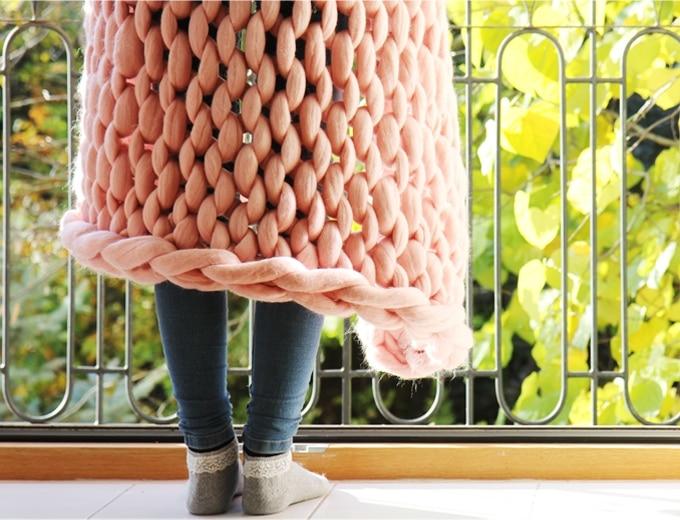 couverture laine fait main