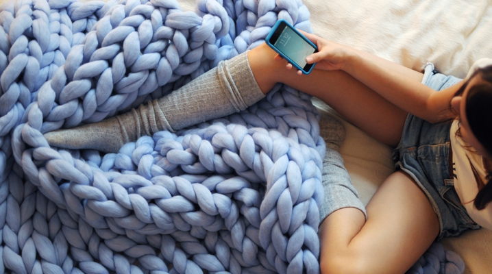 plaid laine fait main