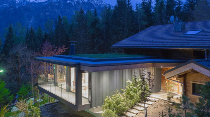 Extension contemporaine toit plat