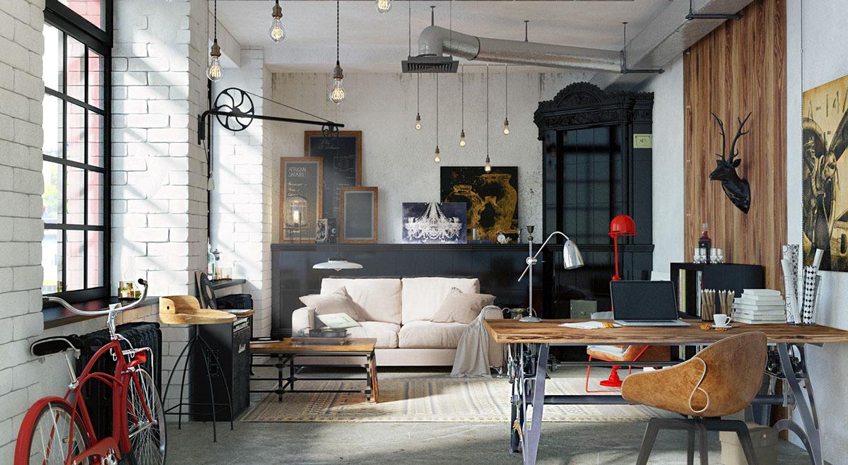 loft rustique chic. Black Bedroom Furniture Sets. Home Design Ideas