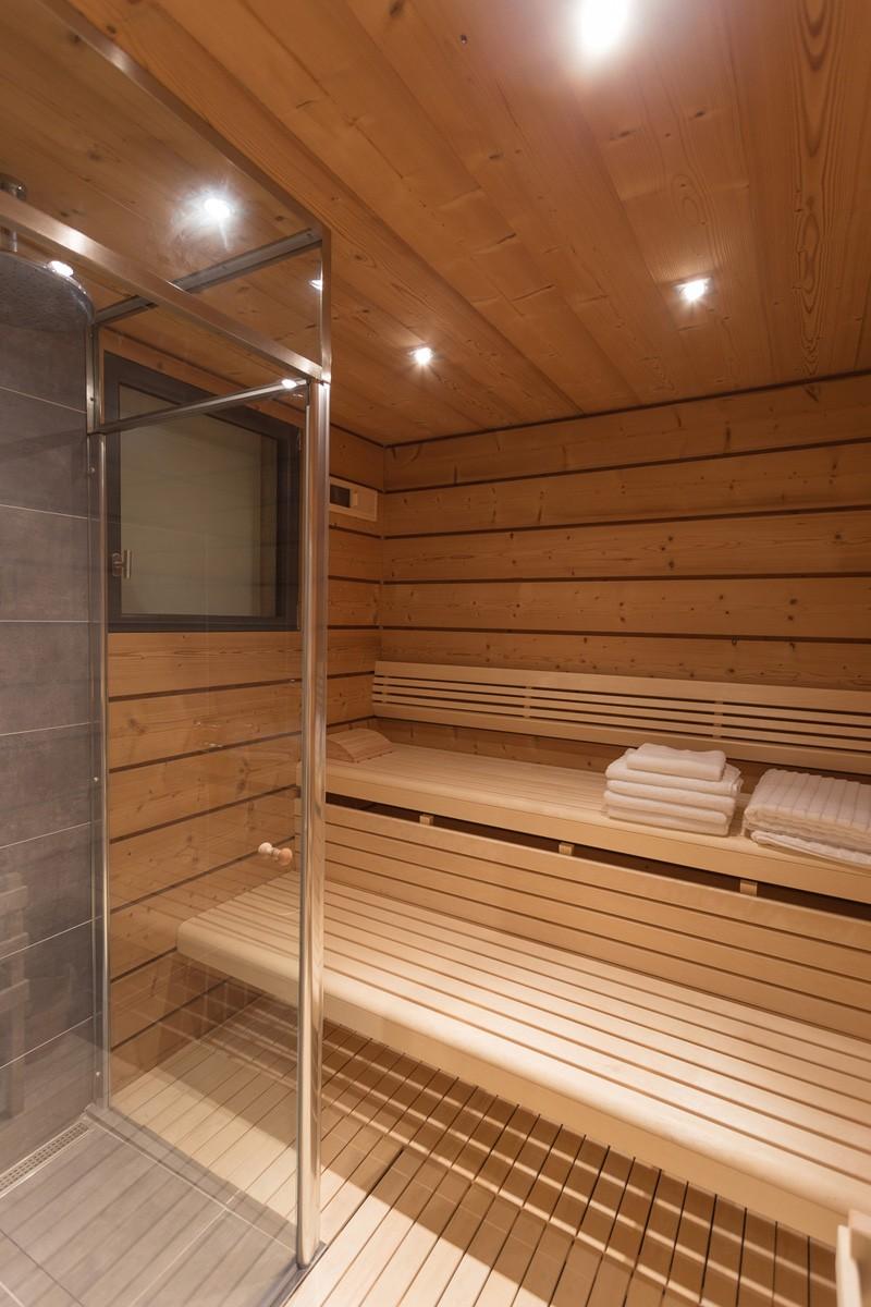 sauna chalet montagne