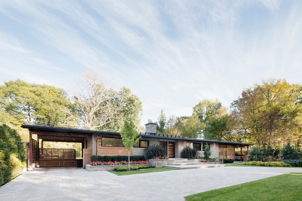 Maison avec un style prairie ou prairie house for Interieur maison 1960
