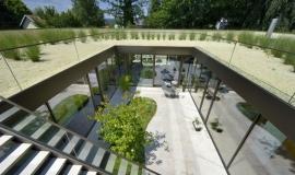 Maison contemporaine atrium