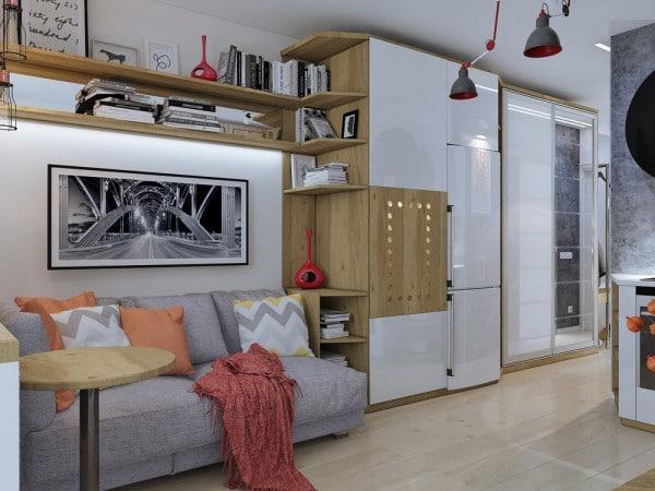 4 id es pour am nager un petit appartement de 30m2 for Cuisine ouverte hlm