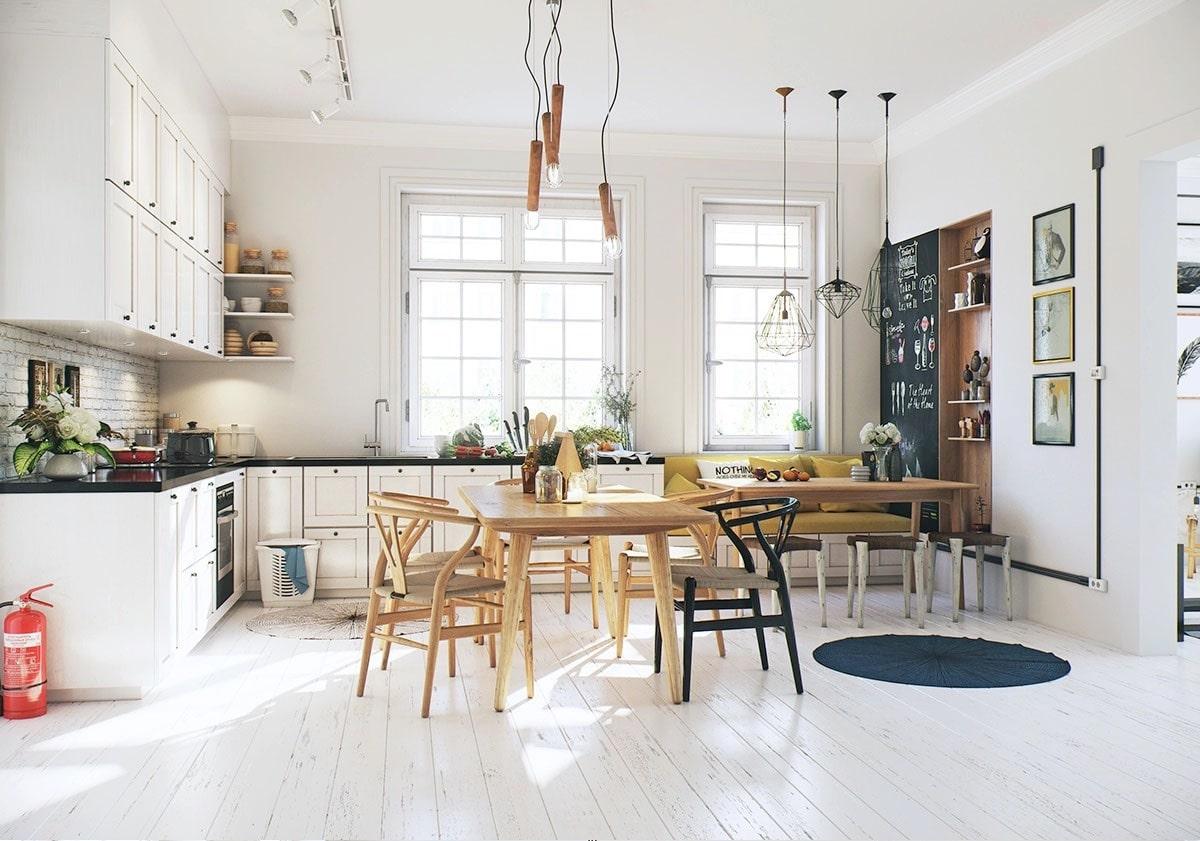 cuisine scandinave. Black Bedroom Furniture Sets. Home Design Ideas
