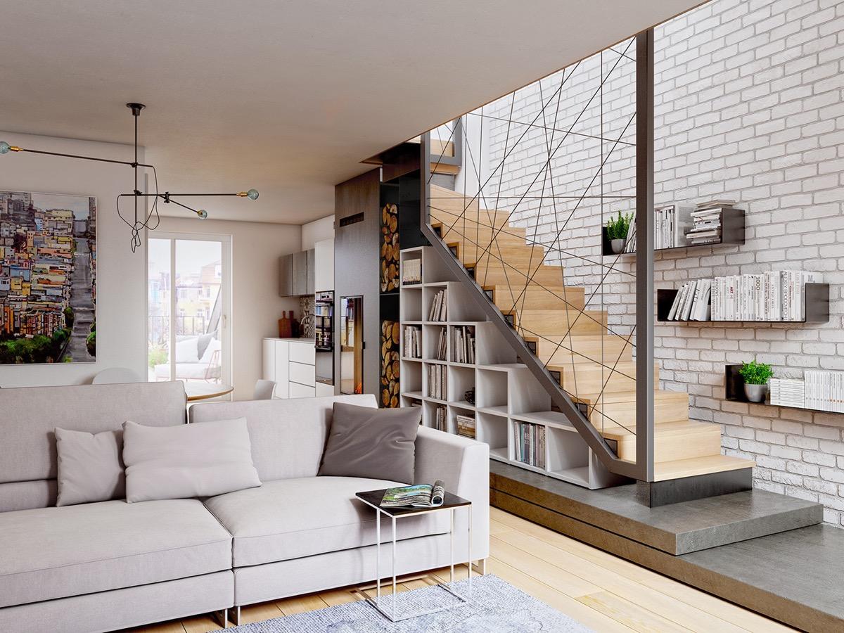 escalier geometrique