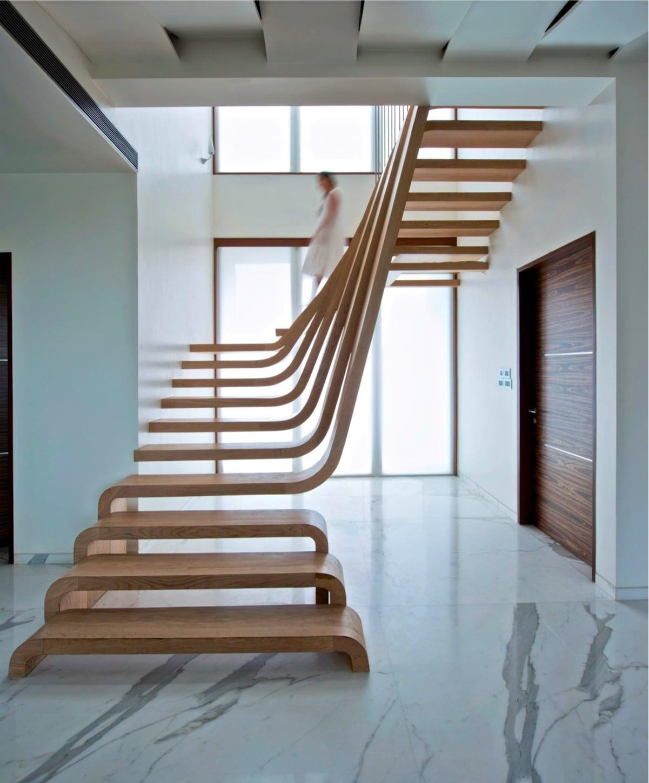 escalier incurve bois