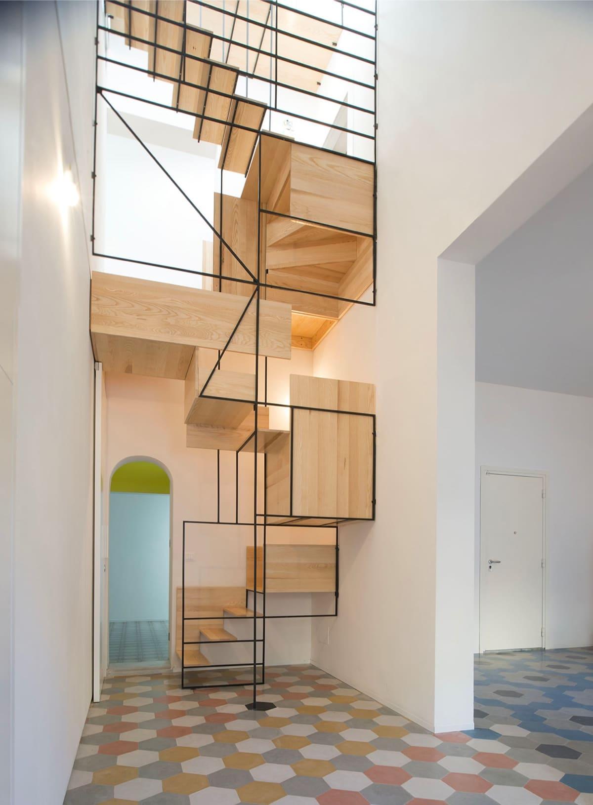 25 id es d 39 escaliers muraux design pour votre int rieur. Black Bedroom Furniture Sets. Home Design Ideas