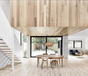 intérieur contemporain bois