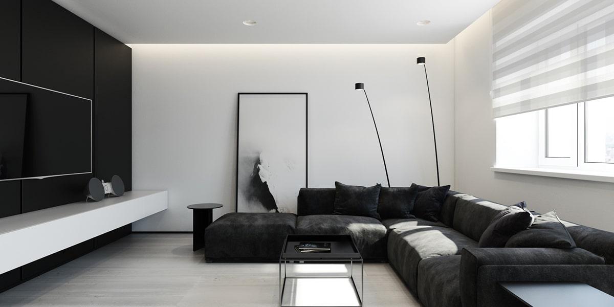 6 magnifiques int rieurs minimalistes noirs et blancs Grand home furniture dubai