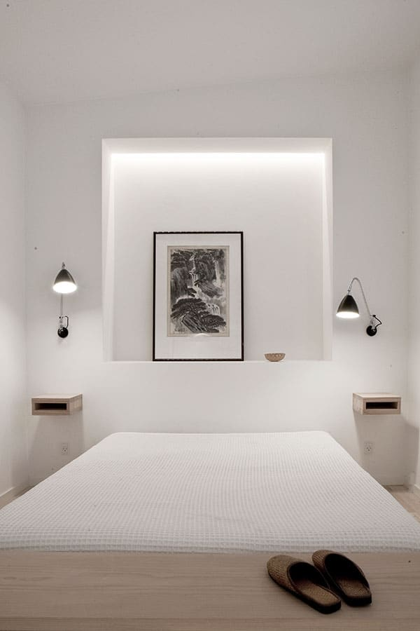 chambre avec niches. Black Bedroom Furniture Sets. Home Design Ideas