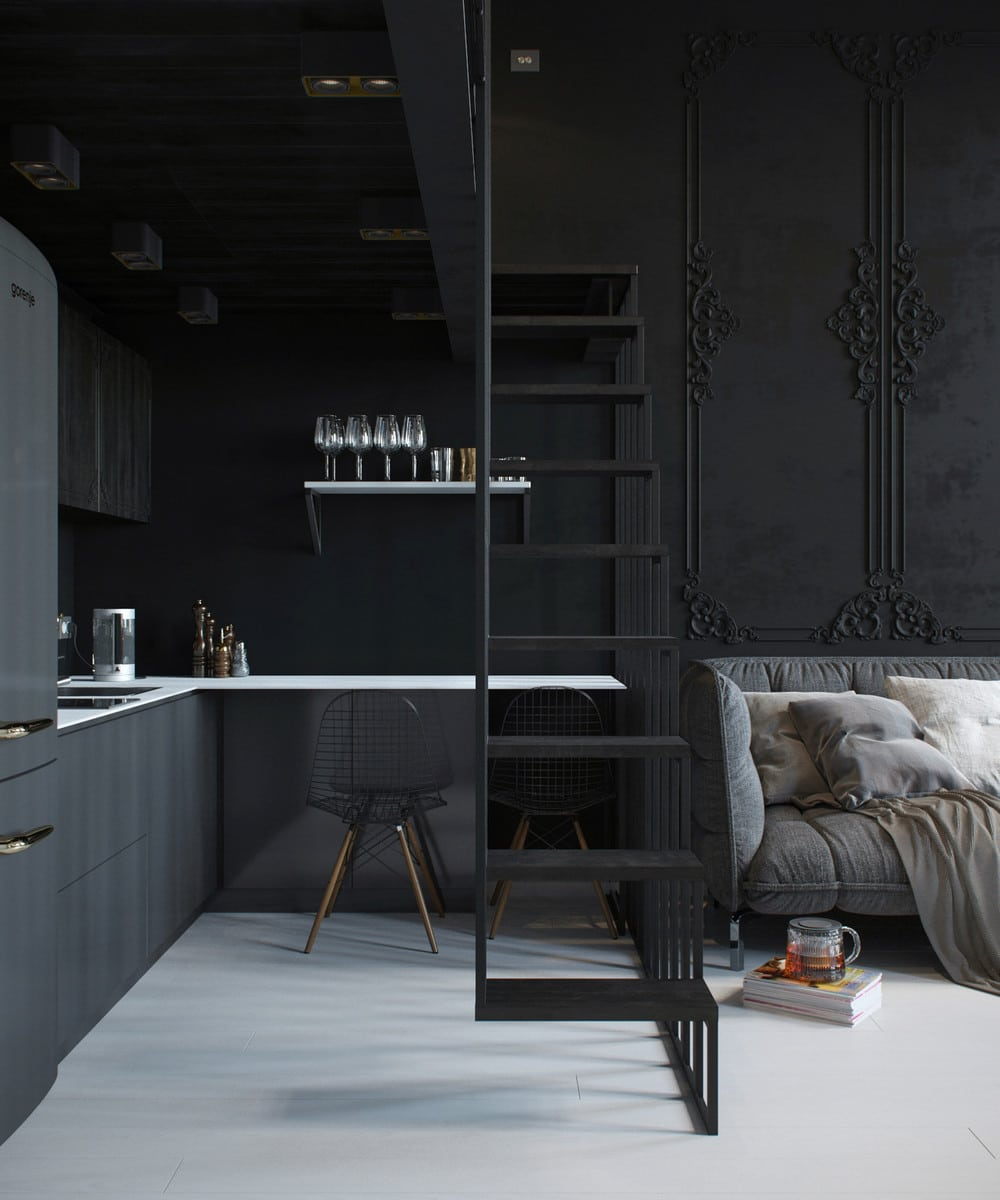plans pour am nager et d corer un appartement de 30m2. Black Bedroom Furniture Sets. Home Design Ideas