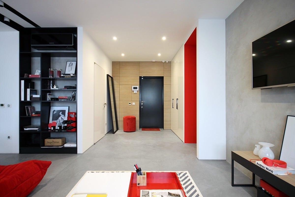 d corer un appartement avec des couleurs primaires. Black Bedroom Furniture Sets. Home Design Ideas