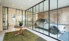 Garage vitré