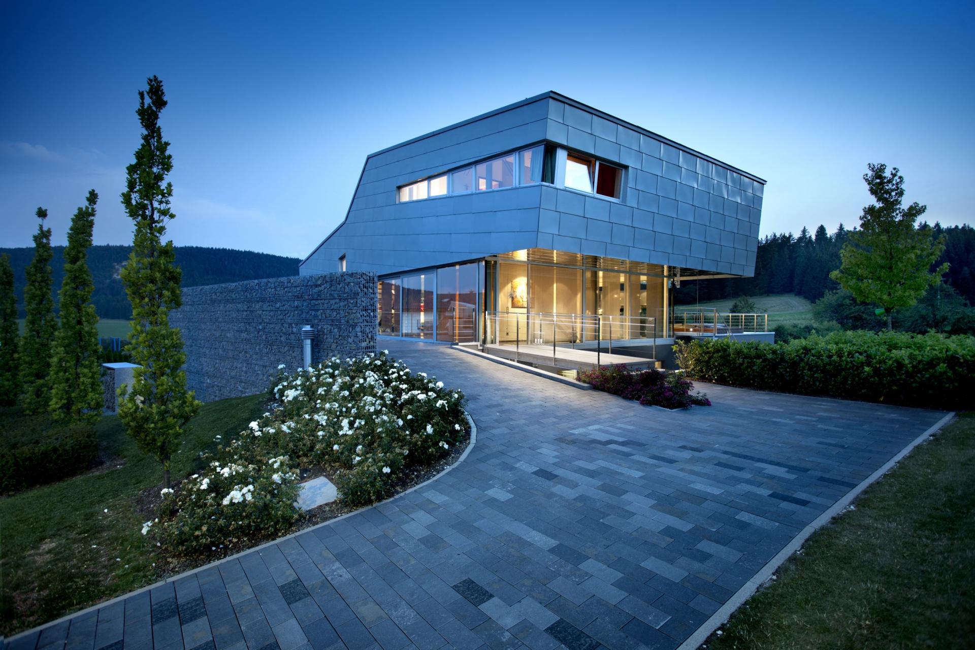 Maison contemporaine metallique