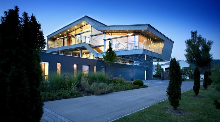 maison design bardage metal
