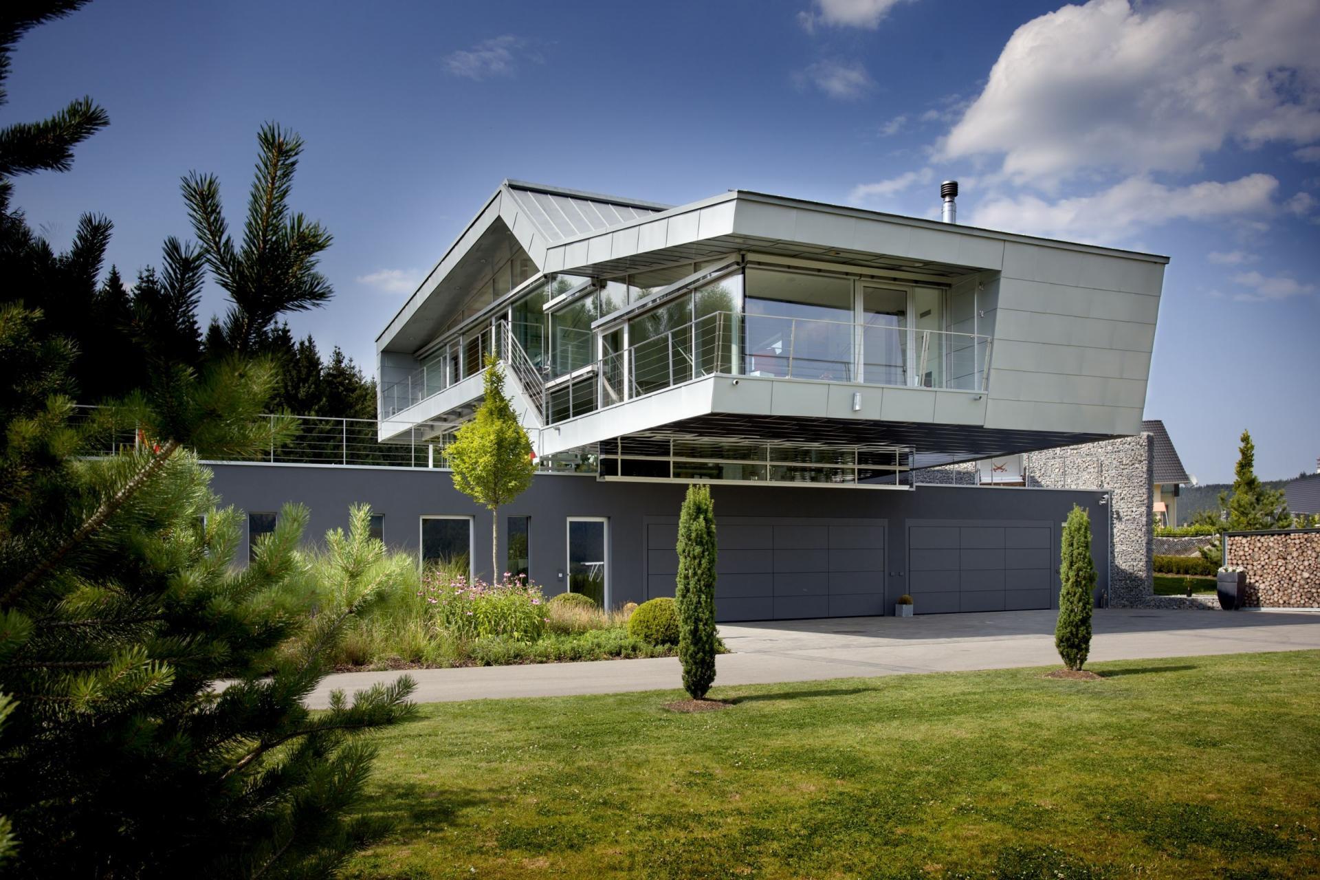 Maison design multi niveaux