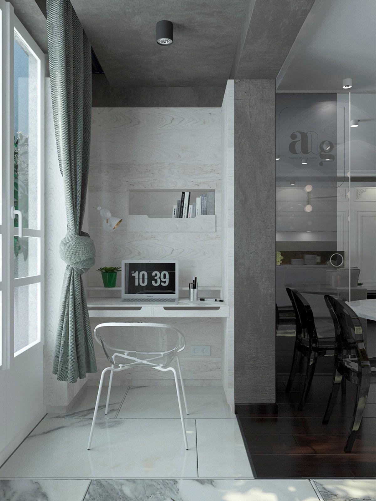 petit bureau minimaliste