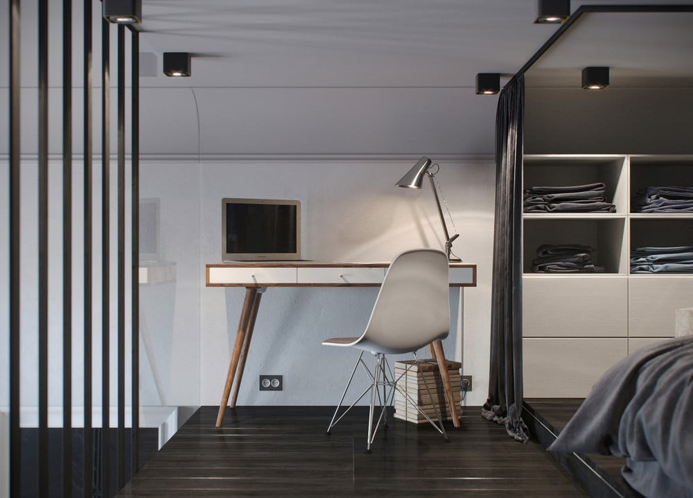 plans pour am nager et d corer un appartement de 30m2. Black Bedroom Furniture Sets. Home Design Ideas
