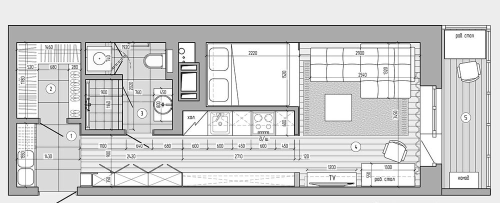 Plans pour am nager et d corer un appartement de 30m2 for Plan de loft moderne