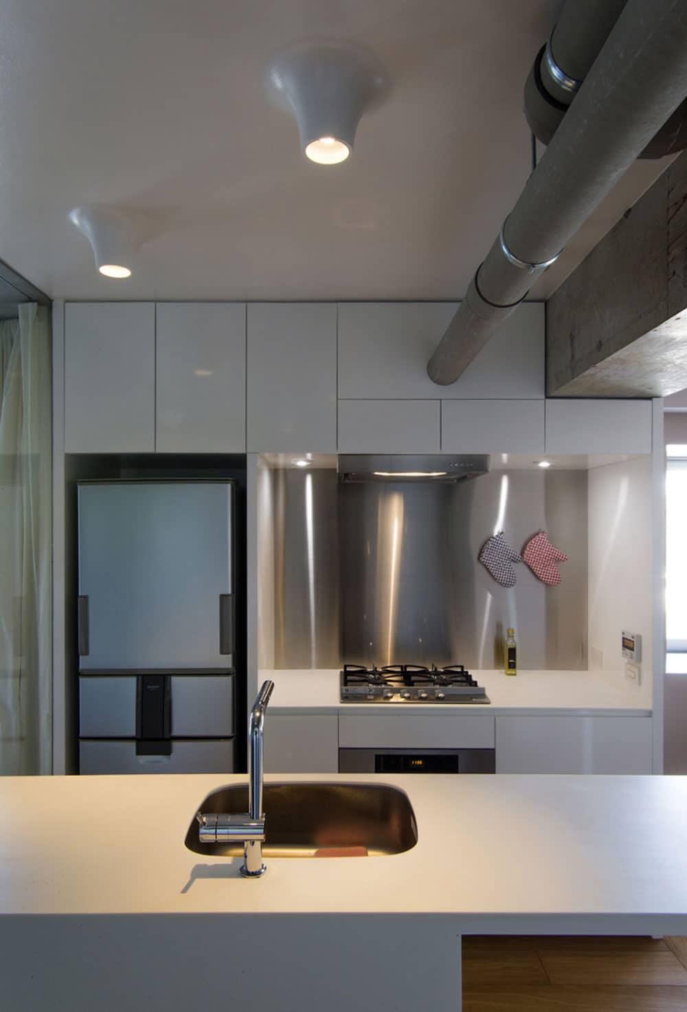 Cuisine blanche appartement