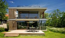 Maison avec toit terrasse