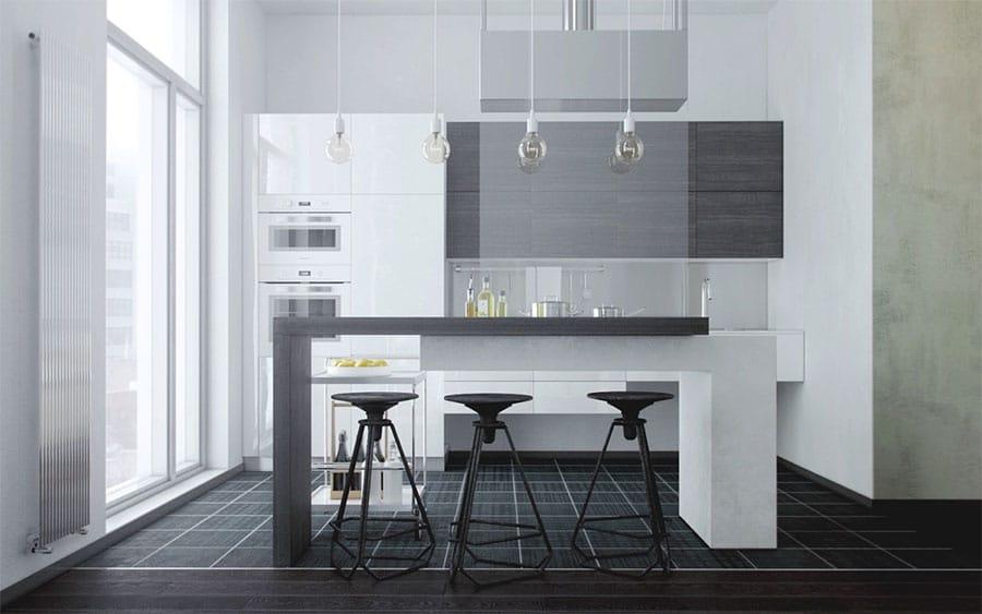 10 suspensions design pour votre cuisine for Table de cuisine suspendue