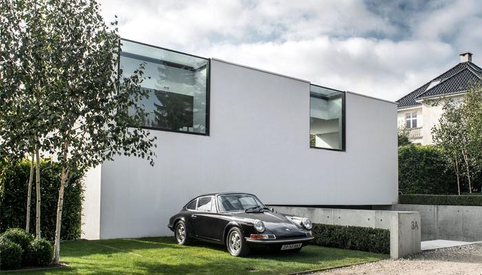 Maison Moderne Scandinave Sur 4 Niveaux