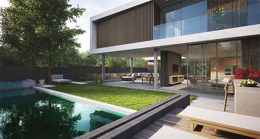 salon exterieur avec piscine