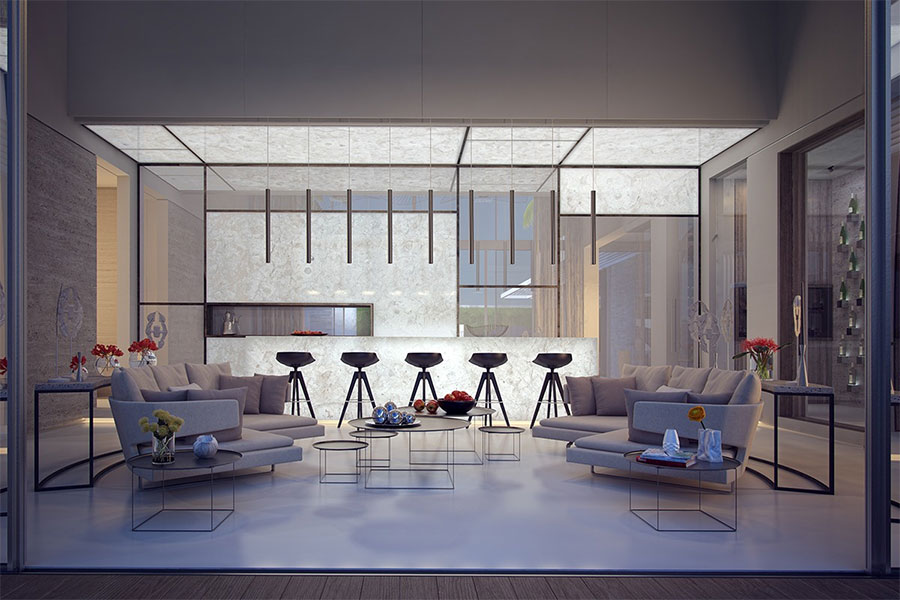salon luxe extérieur